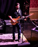 Jordan Lamoureux bass player of the Rob Staley Band