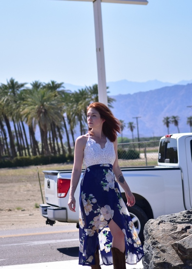 Even though there is a truck passing behind her, I love this shot!